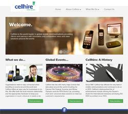Cellhire Corporate Website